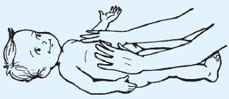 Массаж прямых мышц живота