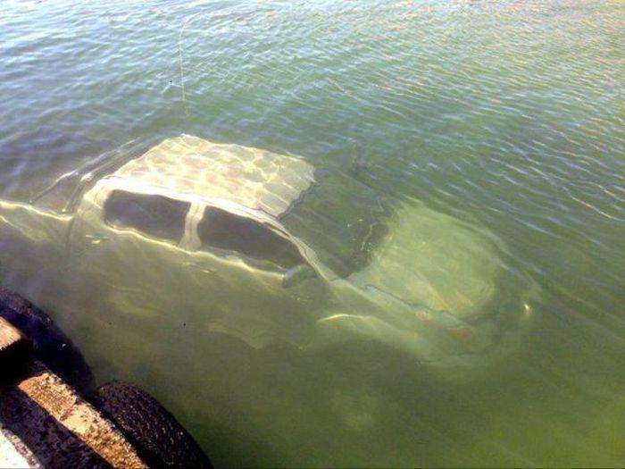 машины утонувшие на рыбалке