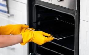 Чистим решётку для духовки